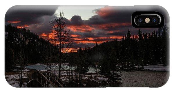 Sunrise Over Cascade Ponds, Banff National Park, Alberta, Canada IPhone Case