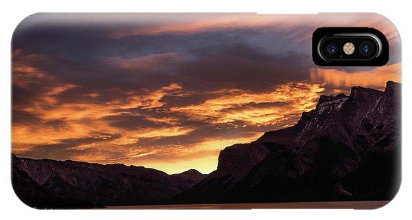 Sunrise Over Lake Minnewanka, Banff National Park, Alberta, Cana IPhone Case