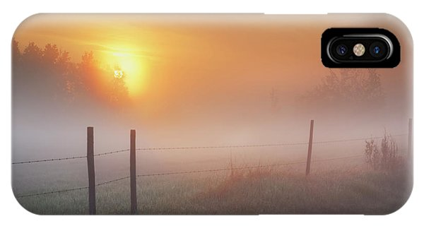 Sunrise Over Morning Pasture IPhone Case