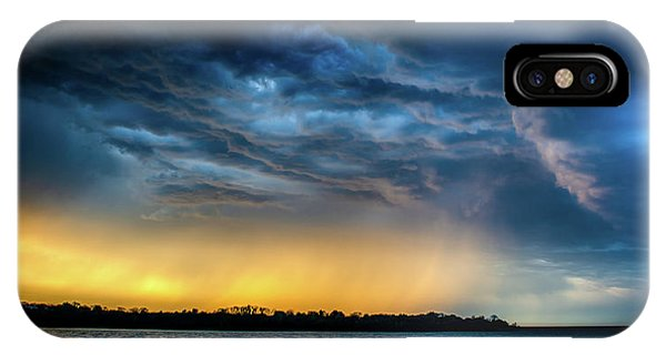 IPhone Case featuring the photograph Sunrise Storm Pano by Jeff Phillippi