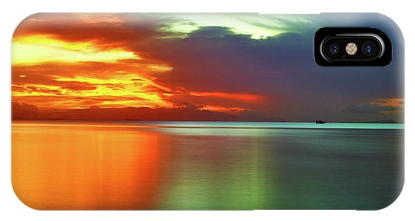 Sunset And Boat IPhone Case