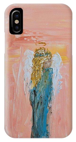 Sunset Angel IPhone Case