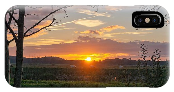 IPhone Case featuring the photograph Sunset by Anjo Ten Kate
