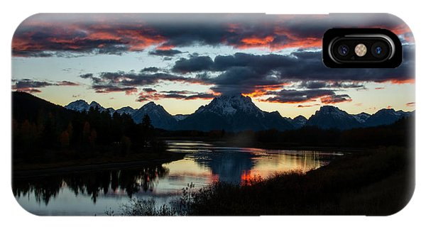 IPhone Case featuring the photograph Sunset At Oxbow Bend by Scott Read