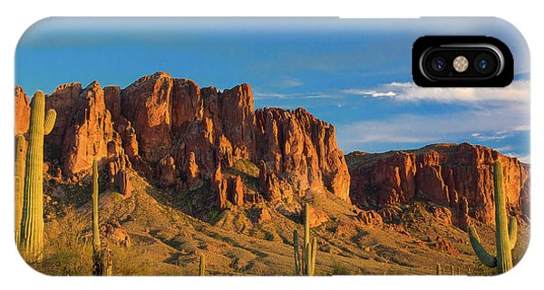 Sunset At Superstition Mountain IPhone Case