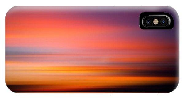 Beautiful Sunrise iPhone Case - Sunset At The Beach. Blurred Panning by Mervas