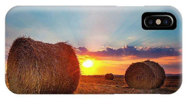 Sunset Bales IPhone Case