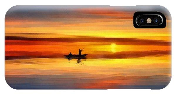 Sunset Fishing IPhone Case