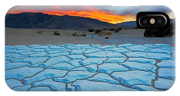 Death Valley iPhone Case - Sunset From Mesquite Flat Sand Dunes by Doug Meek