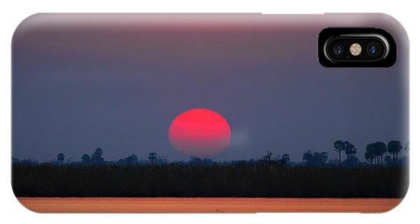 Sunset In Botswana IPhone Case