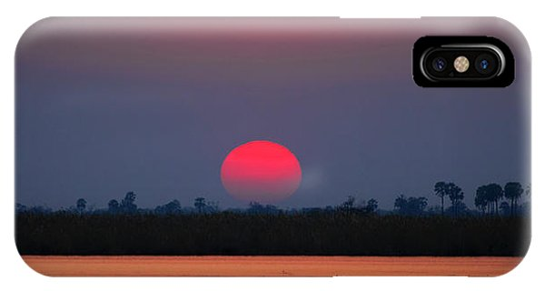 Sunset In Botswana IPhone Case