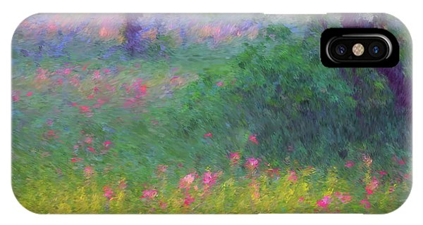 Sunset In Flower Meadow IPhone Case