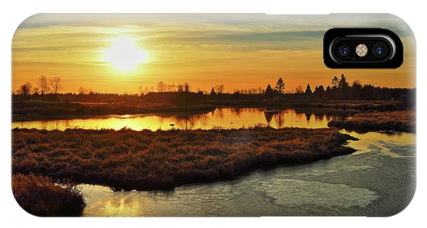 Sunset In Pitt Meadows IPhone Case
