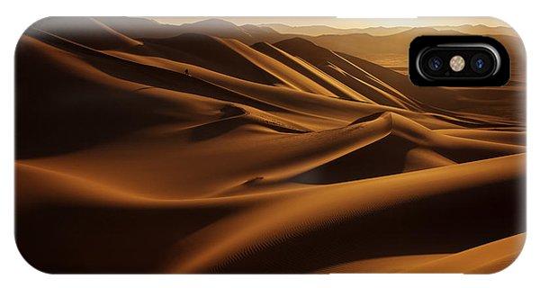 Heat iPhone Case - Sunset In Sahara Desert by Anna Gibiskys