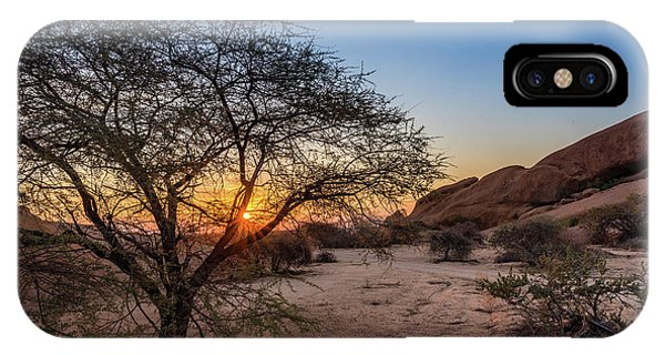 Sunset In Spitzkoppe, Namibia IPhone Case