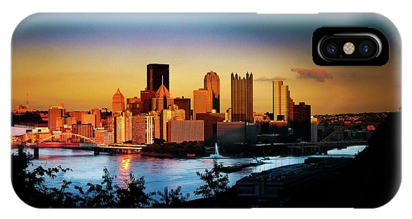 Sunset In The City IPhone Case