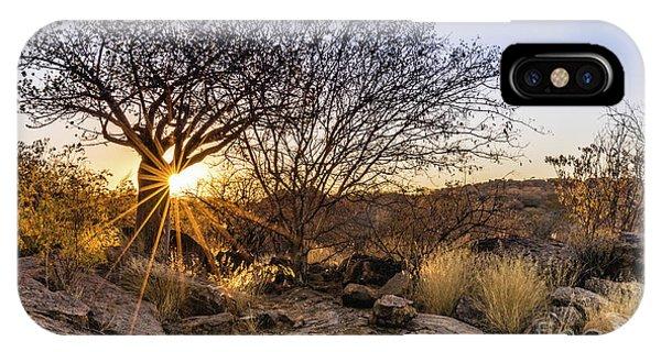 Sunset In The Erongo Bush IPhone Case