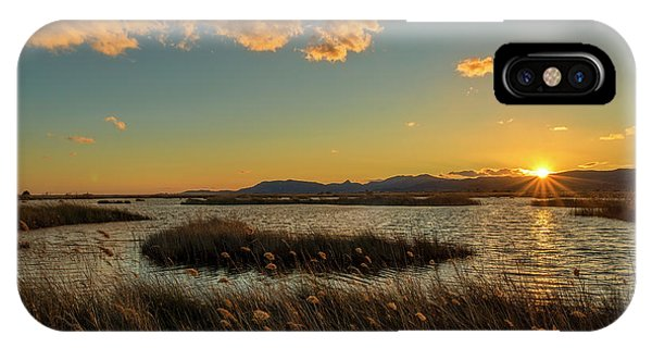 Sunset In The Natural Park Of Prat De Cabanes IPhone Case