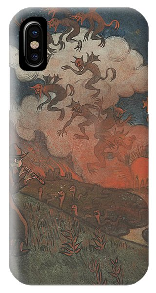 IPhone Case featuring the drawing Sunset by Ivar Arosenius