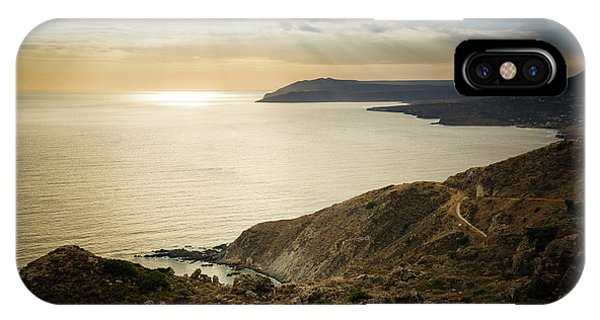 IPhone Case featuring the photograph Sunset Near Tainaron Cape by Milan Ljubisavljevic