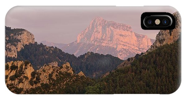 IPhone Case featuring the photograph Sunset On Pena Montanesa by Stephen Taylor