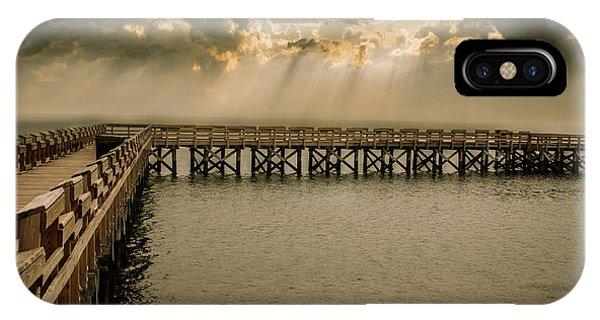Sunset On Pier IPhone Case