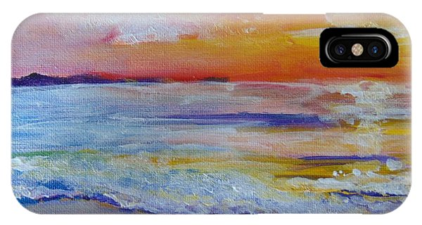 IPhone Case featuring the painting Sunset On The Gulf by Saundra Johnson