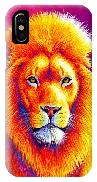 Sunset On The Savanna - African Lion IPhone Case