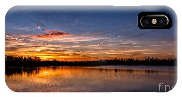 Sunset Over Laupheim Quarry IPhone Case