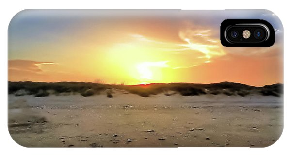Sunset Over N Padre Island Beach IPhone Case