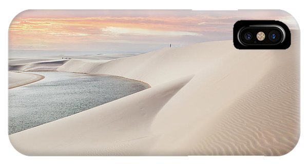 South America iPhone Case - Sunset Over The Sand Dunes And Lagoons by Thanosquest