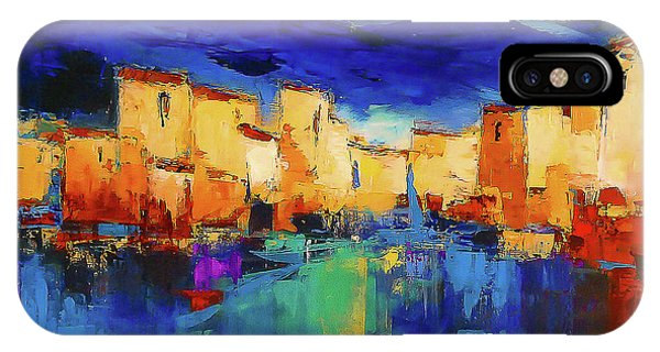 Gallery Wall iPhone Case - Sunset Over The Village by Elise Palmigiani