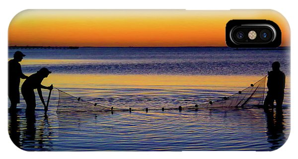 Sunset Seining On Copano Bay IPhone Case