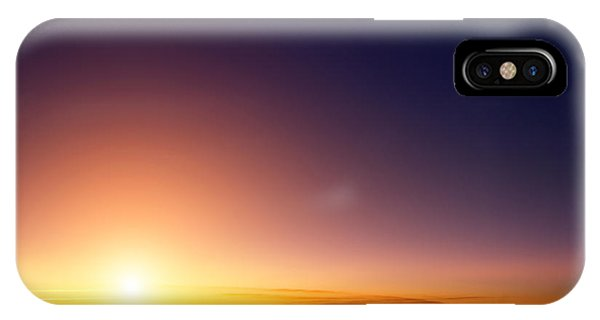 Airplanes iPhone Case - Sunset Sky Stratosphere Background by Logoboom