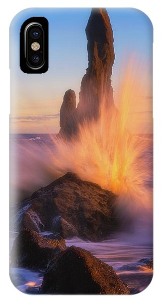 Black Sand iPhone Case - Sunset Splash by Darren White