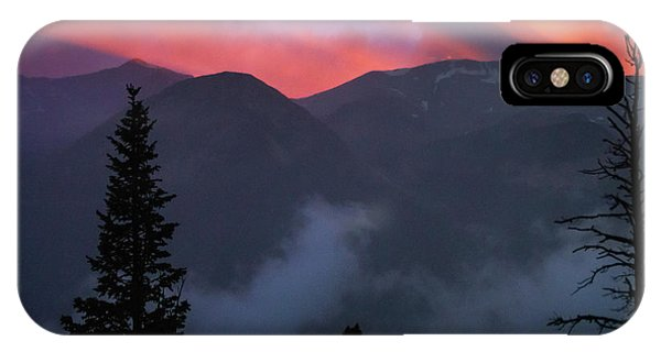 Sunset Storms Over The Rockies IPhone Case