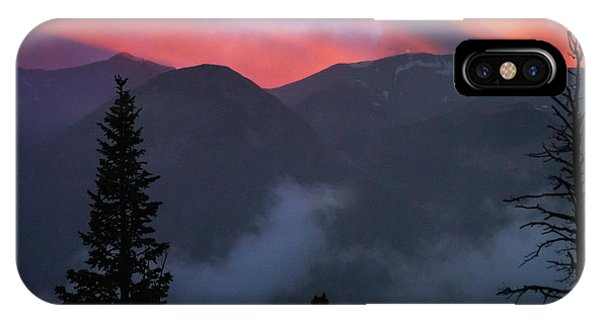 IPhone Case featuring the photograph Sunset Storms Over The Rockies by John De Bord