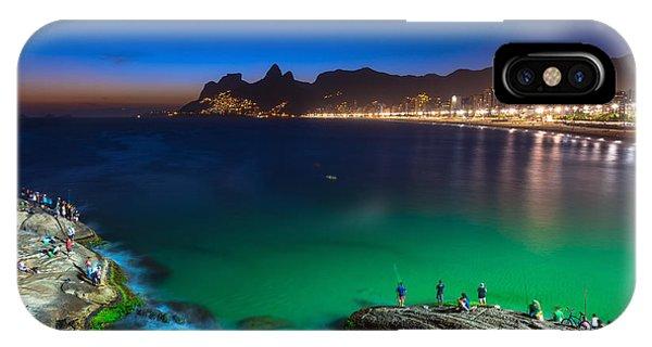 South America iPhone Case - Sunset View Of Ipanema In Rio De by Catarina Belova