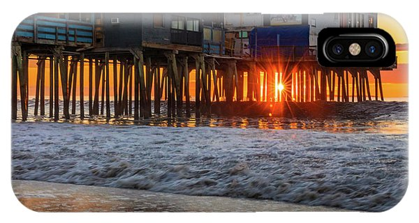 IPhone Case featuring the photograph Sunstar At Pier Patio Old Orchard Beach by Dan Sproul