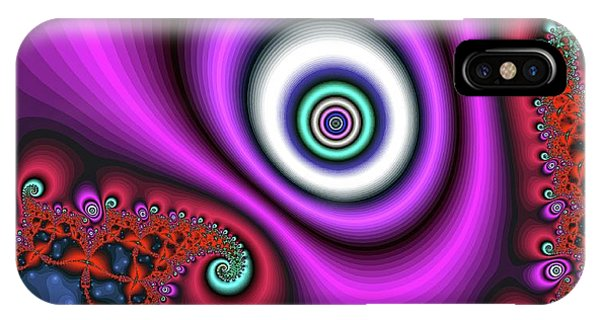 Super Hurricane Eye Magenta IPhone Case