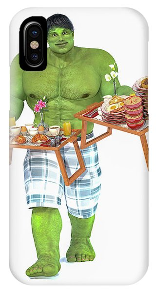 Good Humor iPhone Case - Super Morning Hero Breakfast by Betsy Knapp
