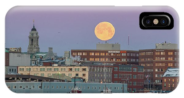 Super Snow Moon Over Portland IPhone Case