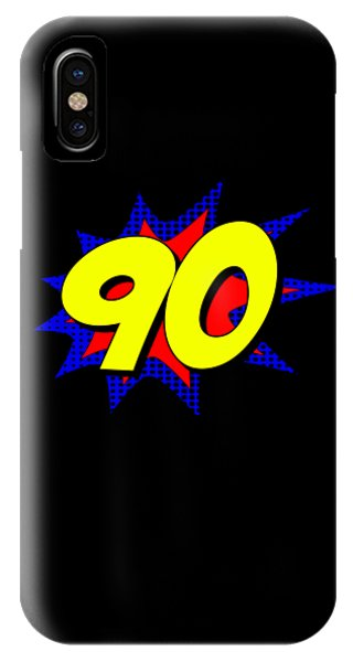 Superhero 90 Years Old Birthday IPhone Case