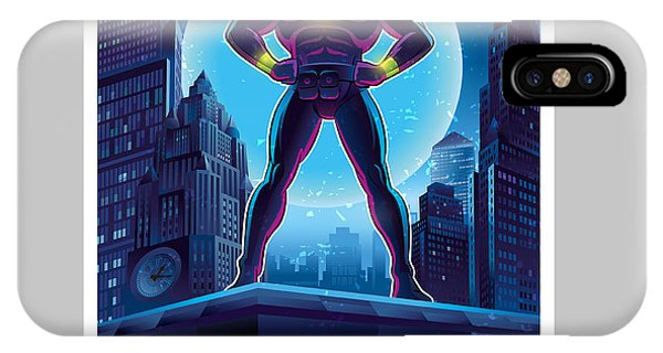 Super Moon iPhone Case - Superhero In Action. Superhero In The by Lana Stem
