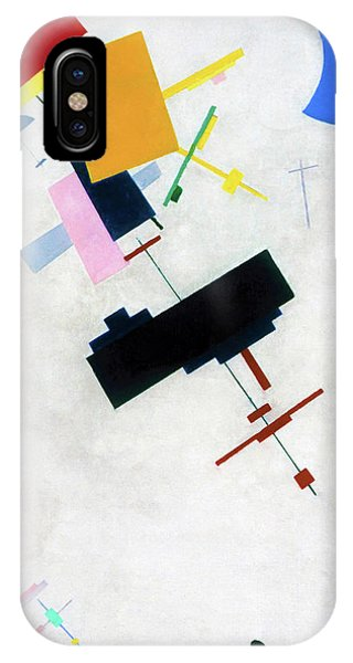 Russian Impressionism iPhone Case - Suprematism 1915 - Digital Remastered Edition by Kazimir Severinovich Malevich