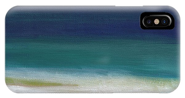 Aqua iPhone Case - Surf And Sky- Abstract Beach Painting by Linda Woods