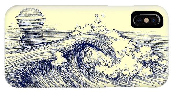 Space iPhone Case - Surf Waves. Sea Waves Graphic. Ocean by Danussa