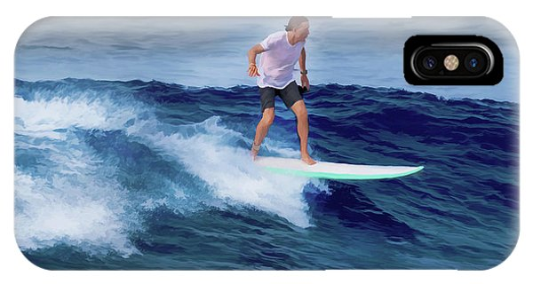Surfing Andy IPhone Case