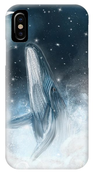 Baby Blue iPhone Case - Surfing The Stars by Bri Buckley