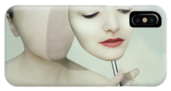 Surrealistic iPhone Case - Surreal Portrait Of A Woman Faceless by Valentina Photos